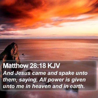 Matthew 28:18 KJV Bible Verse Image