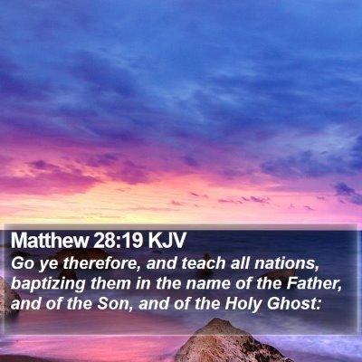 Matthew 28:19 KJV Bible Verse Image