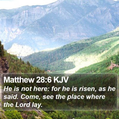 Matthew 28:6 KJV Bible Verse Image