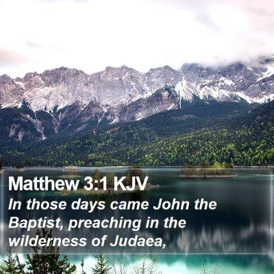 Matthew 3:1 KJV Bible Verse Image