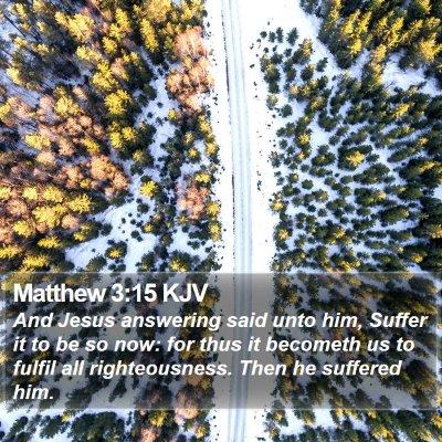 Matthew 3:15 KJV Bible Verse Image