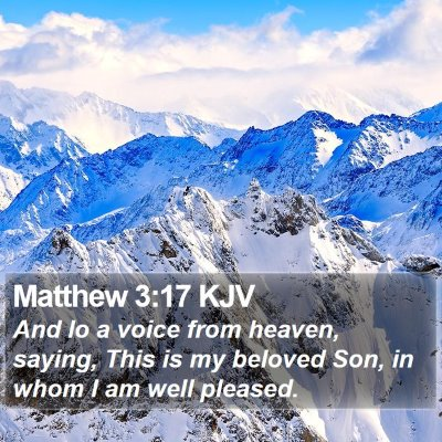 Matthew 3:17 KJV Bible Verse Image