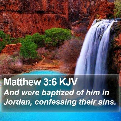 Matthew 3:6 KJV Bible Verse Image