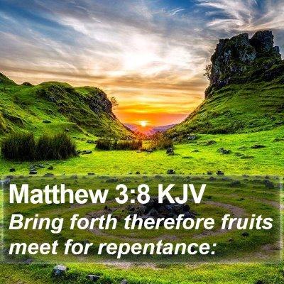 Matthew 3:8 KJV Bible Verse Image