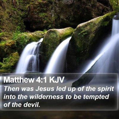 Matthew 4:1 KJV Bible Verse Image