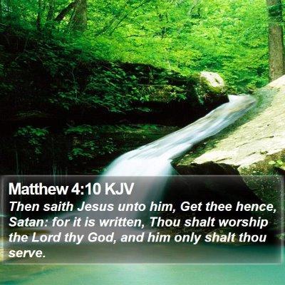 Matthew 4:10 KJV Bible Verse Image