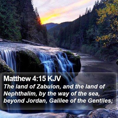 Matthew 4:15 KJV Bible Verse Image