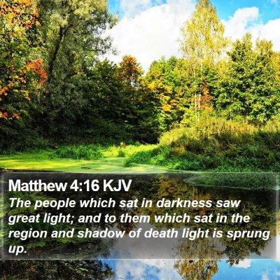 Matthew 4:16 KJV Bible Verse Image