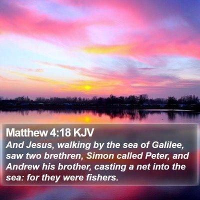 Matthew 4:18 KJV Bible Verse Image