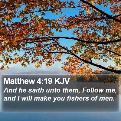 Matthew 4:19 KJV Bible Verse Image