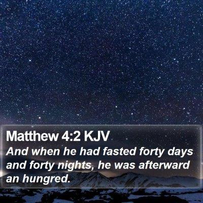 Matthew 4:2 KJV Bible Verse Image