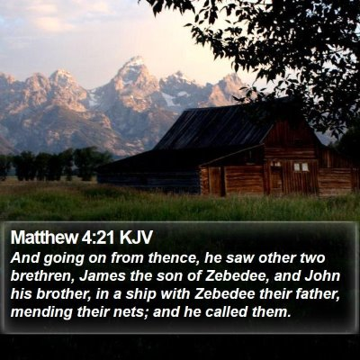 Matthew 4:21 KJV Bible Verse Image