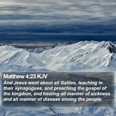 Matthew 4:23 KJV Bible Verse Image