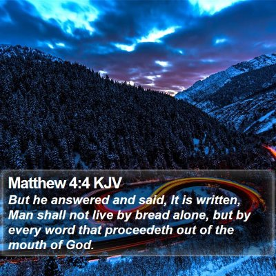 Matthew 4:4 KJV Bible Verse Image