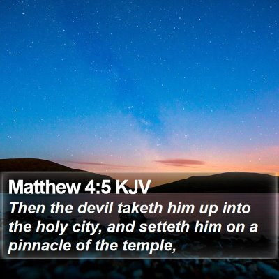 Matthew 4:5 KJV Bible Verse Image