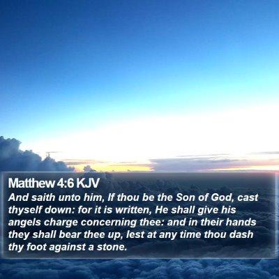 Matthew 4:6 KJV Bible Verse Image