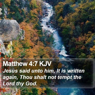 Matthew 4:7 KJV Bible Verse Image