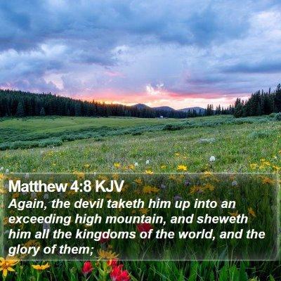 Matthew 4:8 KJV Bible Verse Image