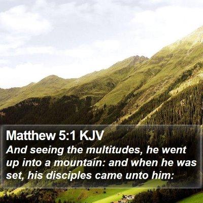 Matthew 5:1 KJV Bible Verse Image