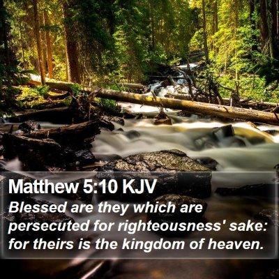 Matthew 5:10 KJV Bible Verse Image