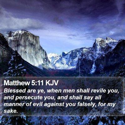 Matthew 5:11 KJV Bible Verse Image