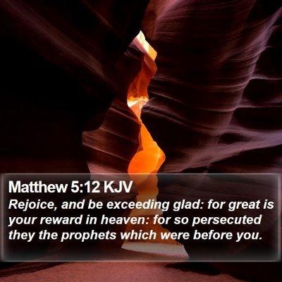 Matthew 5:12 KJV Bible Verse Image