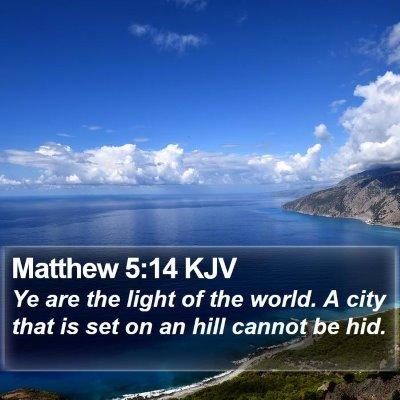 Matthew 5:14 KJV Bible Verse Image