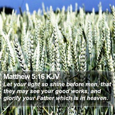 Matthew 5:16 KJV Bible Verse Image