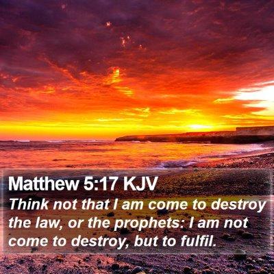 Matthew 5:17 KJV Bible Verse Image