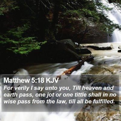 Matthew 5:18 KJV Bible Verse Image