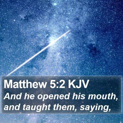 Matthew 5:2 KJV Bible Verse Image