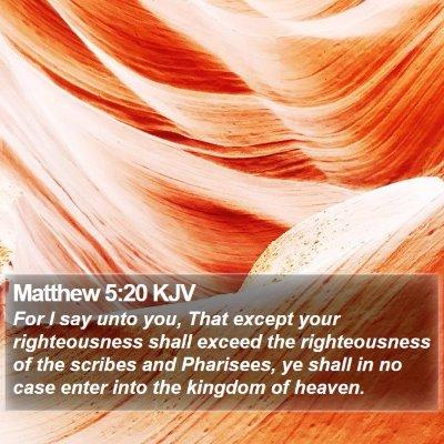 Matthew 5:20 KJV Bible Verse Image