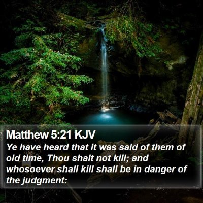 Matthew 5:21 KJV Bible Verse Image