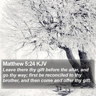 Matthew 5:24 KJV Bible Verse Image
