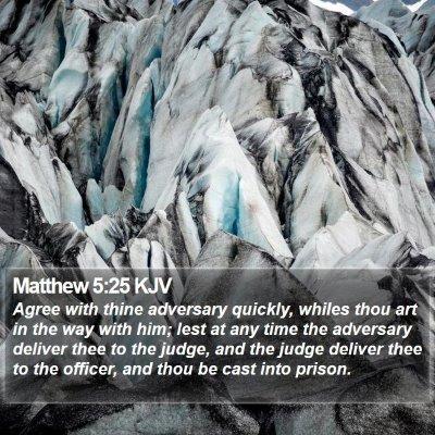 Matthew 5:25 KJV Bible Verse Image