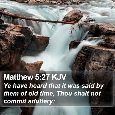 Matthew 5:27 KJV Bible Verse Image