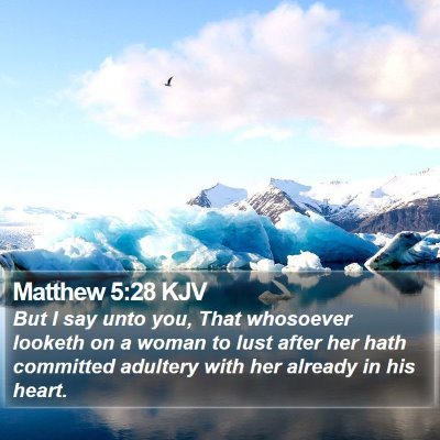 Matthew 5:28 KJV Bible Verse Image