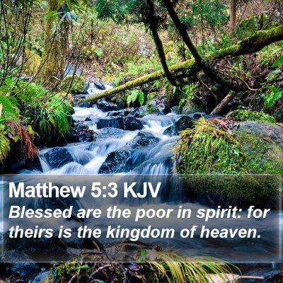 Matthew 5:3 KJV Bible Verse Image
