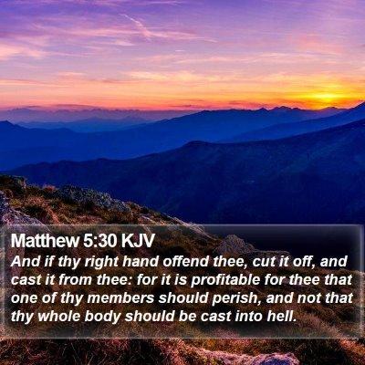 Matthew 5:30 KJV Bible Verse Image
