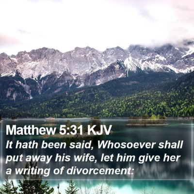 Matthew 5:31 KJV Bible Verse Image