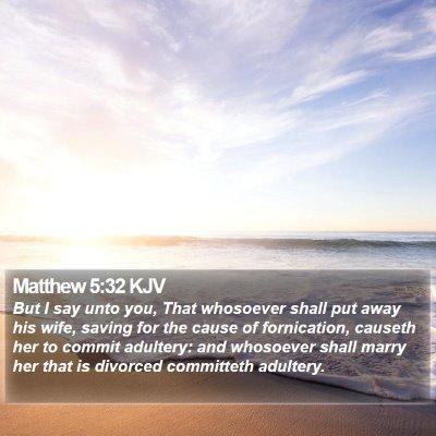Matthew 5:32 KJV Bible Verse Image