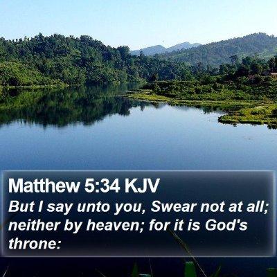 Matthew 5:34 KJV Bible Verse Image