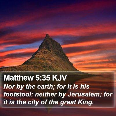 Matthew 5:35 KJV Bible Verse Image