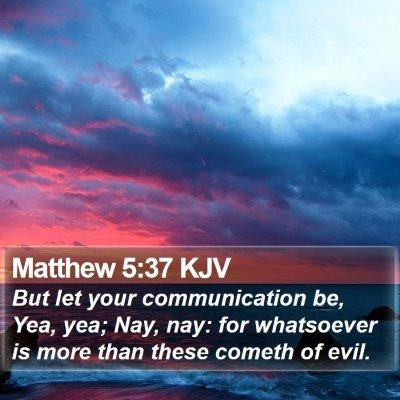 Matthew 5:37 KJV Bible Verse Image