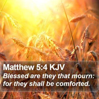 Matthew 5:4 KJV Bible Verse Image