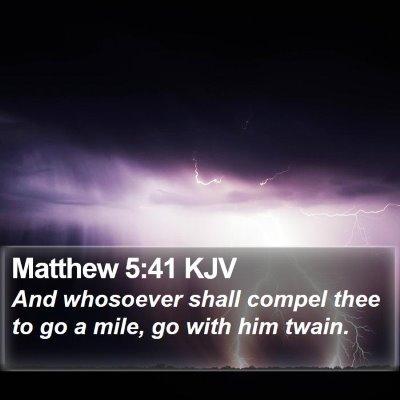 Matthew 5:41 KJV Bible Verse Image