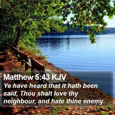 Matthew 5:43 KJV Bible Verse Image
