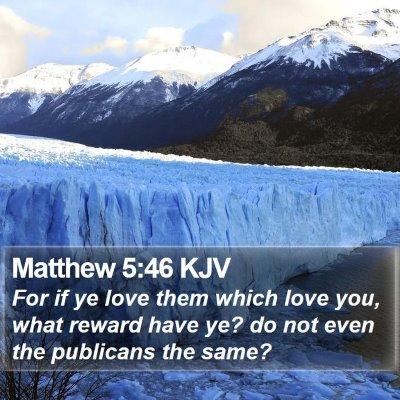 Matthew 5:46 KJV Bible Verse Image