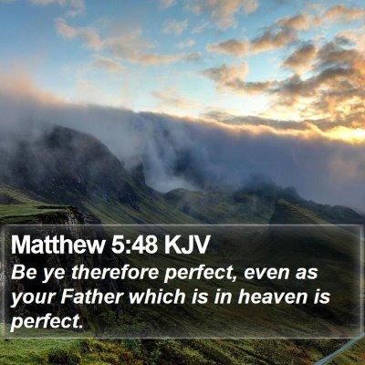 Matthew 5:48 KJV Bible Verse Image