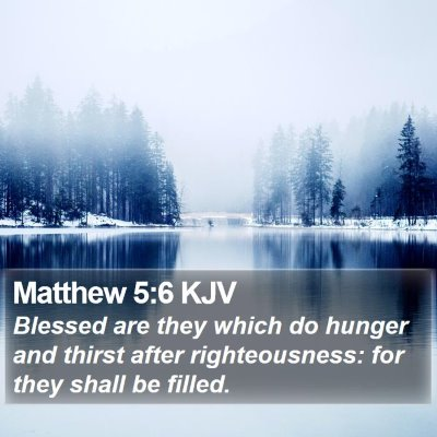 Matthew 5:6 KJV Bible Verse Image